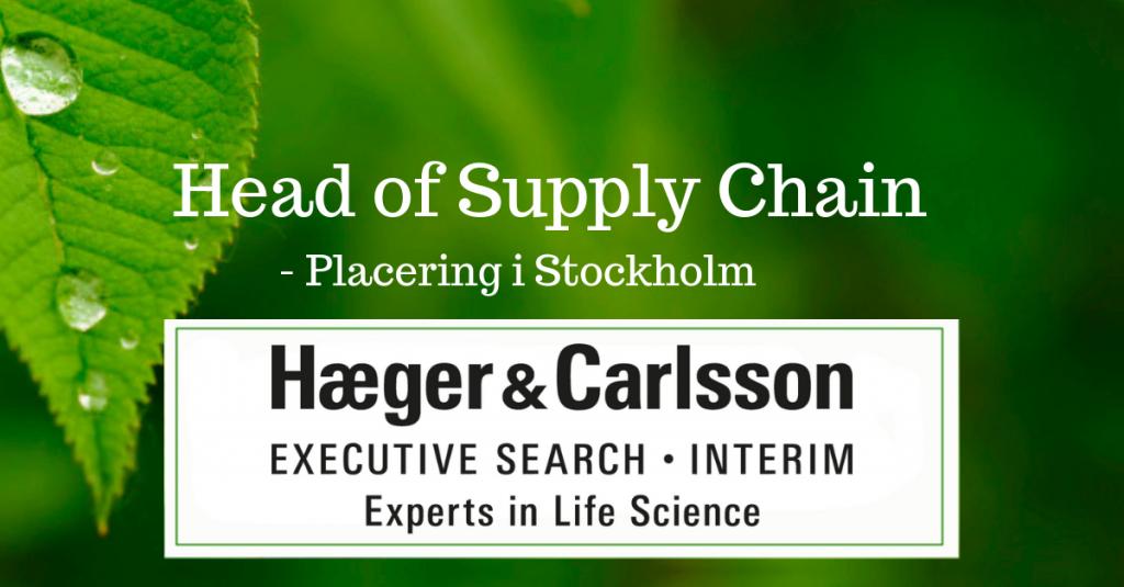 Head of Supply Chain