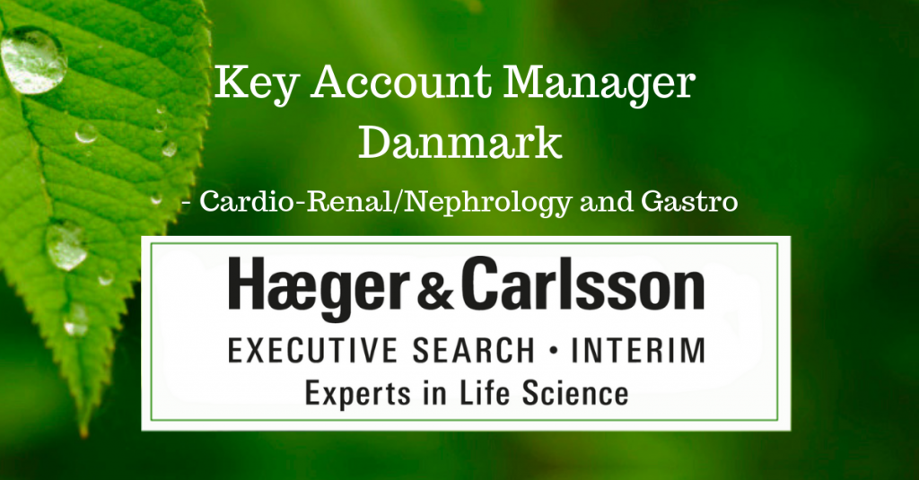 Key Account Manager Danmark, Cardio-Renal/Nephrology and Gastro