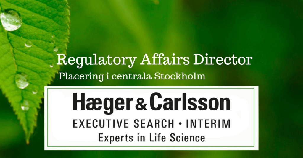 Regulatory Affairs Director, Placering i centrala Stockholm