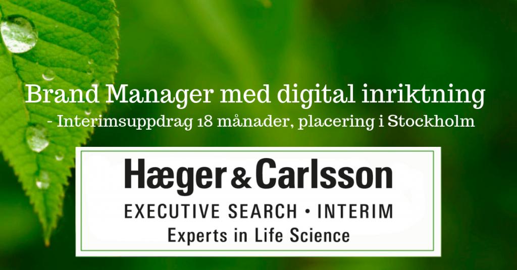 Brand Manager med digital inriktning -Interimsuppdrag 18 mån, Stockholm