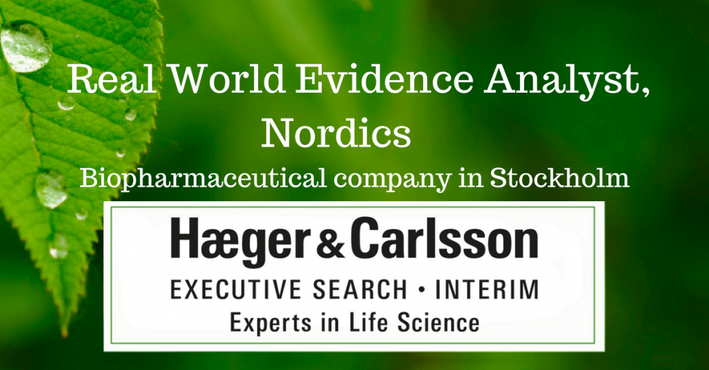 Real World Evidence Analyst, Nordics