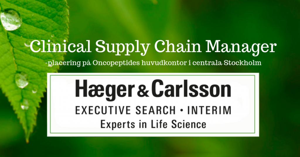 Clinical Supply chain manager